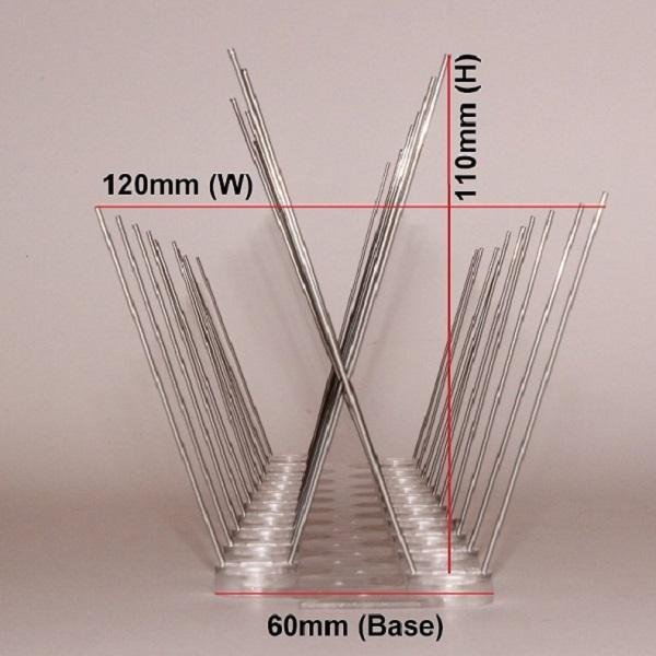 Bird Spikes Zig Zag Wide Base Measurements