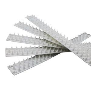 Anti-Cat & Possum Fence Spikes - White 5 Metres Pack