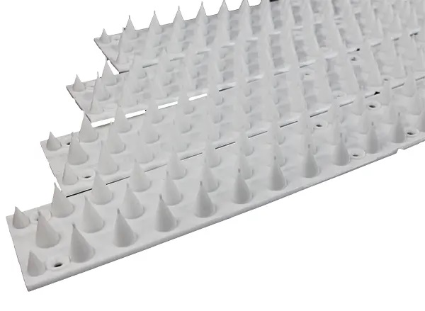 Anti-Cat & Possum Fence Spikes - White 5 Metres Pack Side-By-Side
