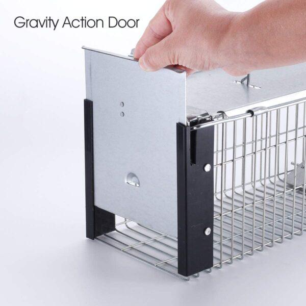 Commercial Humane Rodent Trap Door open